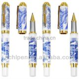 2013 carving delicate blue and white porcelain pen for gift
