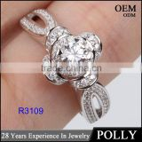 925 sterling silver engraved engagement ring for bridal wedding jewelry