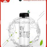 My bottle advertising creative sport plastic bottle,lemon water bottle for promotion gift