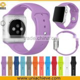 HOT!! 2015 Beat selling !! silicone band for apple watch, Watch Strap Band for Apple Watch Band 38mm 42mm purple