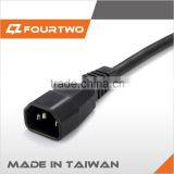 Made in Taiwan high quality low price c19 to c13 power cord,ac power cord cable,c13 c14 connector power cord
