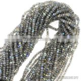 labradorite beads faceted,2-3mm rondelle faceted gemstone strand,wholesale beads jewelry making supplies india