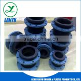 flexible rubber expansion joint with flange coupling