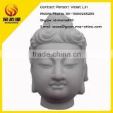 hand carved stone buddha head statue