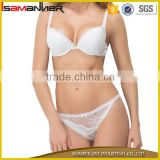 Women push up bra brassiere lingerie set sexy white lace bra girls transparent panty set                                                                                                         Supplier's Choice