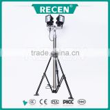 Chinf factory 4*500w double headlight professinal portable telescopic high mast flood light tripod stand