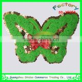 Sewing on clothes sequin applique embroidered green butterfly bead custom embroidery patch