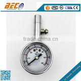 (YT-40A) 40mm chrome placted material small size customed acceptable car tire use turbo pressure gauge meter