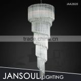 long penant italian pipe glass modern chandelier