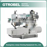 3 needles 2 thread flat bed type auto interlock sewing machine