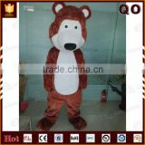 Cheap detachable brown bear mascot costume for outdoor performance