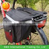 18L Outdoor Waterproof Black Bicycle Big Rear Seat Tail Pannier Bag