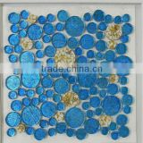 Cheap price laminate crystal glass mixed brushed stainless steel mosaic                                                                                                         Supplier's Choice