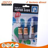 Jinyu hot sale factory price oem odm welcome 3 seconds quick dry 100%Cyanoacrylate super glue 3g