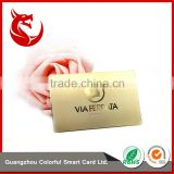 Wholesale cheap glossy gold sublimation metal card