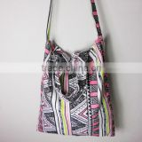 Boho Tote bag, Cotton linen, Shoulder bag, Printed Aztec backpacks, Market Bag Grocery Bag