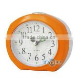 plastic oval shape table alarm clock bedside clock, children's alarm clock and nightlight