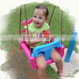 Playground colorful Plastic 3 in 1 Baby swing Seat
