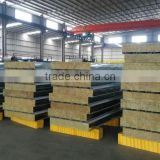 wholesale price fireproof sound absorption rock wool sandwich roof panels