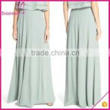 High Waist Crepe A-Line Long Chiffon Skirt Pattern for Women