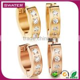 Wholesale Products Women Fashion Rose Gold Cz Ring Jhumka Earrings