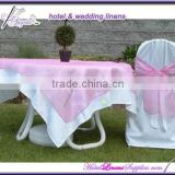 light pink organza table overlays for special events, weddings, parties, wedding table overlays