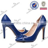2015 Guangzhou factory real leather 15cm high heel wedges women shoes