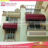 Waterproof Canvas Casement Awning Window With Grill