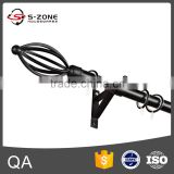 Top design wrought Iron Decoration Curtain Rod with finial bracket Accessories