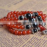 Natural red agate jade lotus tower bead bracelet 108 beads bracelet with crystal bracelet