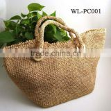 WL-PC001 100% Raffia Straw Summer Beach Tote Bag For Women