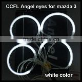 12v 7000k 2*101.5mm 2*112.5mm ccfl rings angel eyes for mazda 3 led headlight xenon lamp halo rings kit