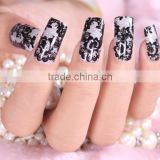 Wholesale nail foil sticker custom nail wraps cheap nail sticker black rock lace Sticker