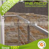 Wholesale factory price polished finished 304/316 outdoor metal stainless steel glass handrail