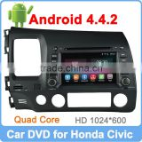 Ownice Pure Android 4.4.2 Quad Core 1.6GHz for honda civic 2006-2011 left dvd Built-in Wifi +16GB Flash
