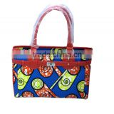2016 new products African wax print fabric handbags for women