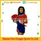 wholesale custom long sleeve sublimated printing spandex fabric girl red cheerleading uniform