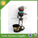 Metal Garden Design Art Ants Pot Animal Metal