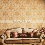 light embossed design wallpaper/vinyl wallpaper/pvc wallcovering/modern classical wallpaper