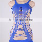 Ready stock accept paypal hollow out flirty tube chemise sexy lingerie royal blue babydolls