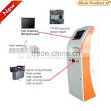 dual screen kiosk touch screen kiosk coin acceptor cash acceptor self service payment kiosk