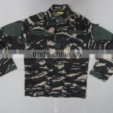 Custom cotton polyester ripstop malaysia military navy woodland camouflage tactical BDU military uniforms