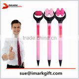 cute pink ball pen with a little massager promotional massage pen