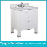 White Bathroom Vanity Carrera Marble Top