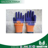 GL056 13g Polyester Latex 1/2 Coated Crinkle Safety Work Gloves