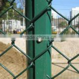Alibaba.com Golden Supplier High Quality Perimeter fence/Chain Link Fence top barbed wire/cyclone fence