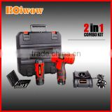 Power Tools 12V Li-ion Battery Cordless Drill Kit
