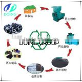 2015 New Design waste tire recycling machine, waste tire recyclin to rubber powder production line