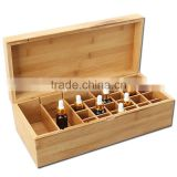hot selling 26 grid bamboo wooden essential oil bottle storage box