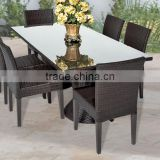 2017 Trade Assurance most popular outdoor alum frame rattan restaurant used dinning table set